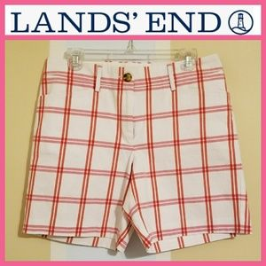 Lands' End Plaid Shorts